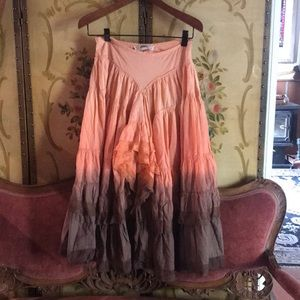 ✨Flowy Lace Ombré Bohemian Maxi Skirt